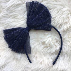 NWOT Gymboree Headband Navy Blue Sparkles